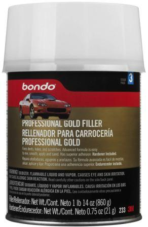 3M Bondo Professional Gold Filler