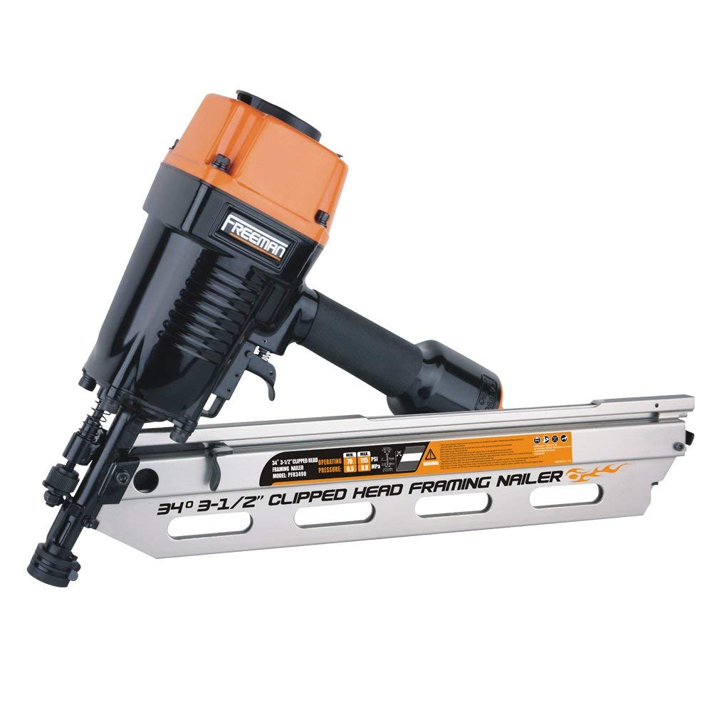 34 Reviews: Freeman PFR3490 34 Degree Clipped Head Framing Nailer Review
