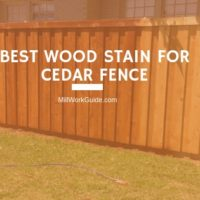 best stain for cedar fence