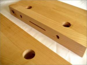 wood with screw holes