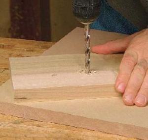 drilling with dowel screws