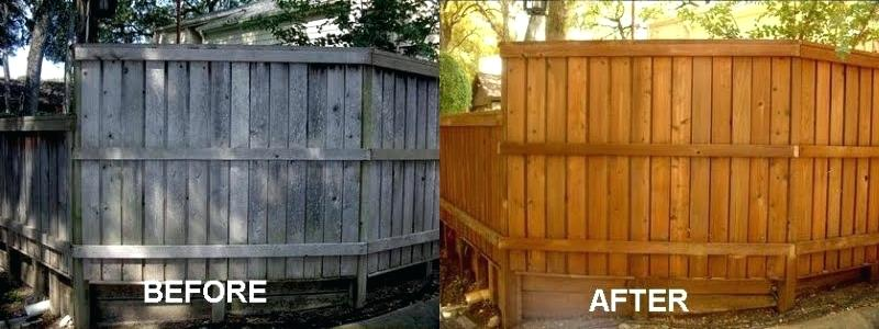 best stain for cedar fence before and after